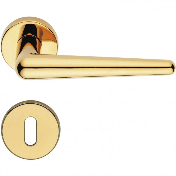 Door handle H421 Didone, Interior, Polished Brass