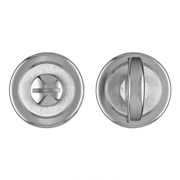 Privacy lock - Chrome/Satin chrome - K1735 - Valli&Valli