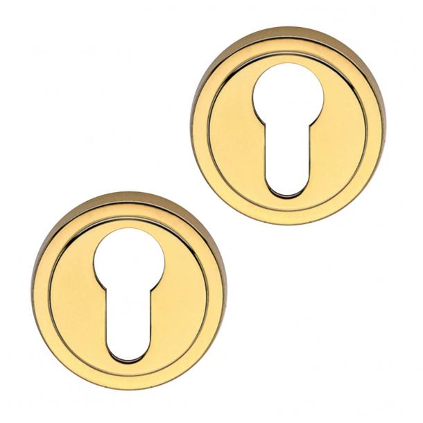 Profil Zylinderring - Euro Profilschloss - mit Deckel - Messing (50mm)