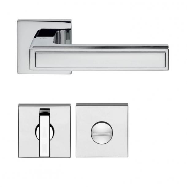 Türgriff - Chrom - Toilettenschloss - Modell H1056 Quadra