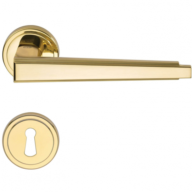 Door handle H1057 Retro, Interior, Polished Brass