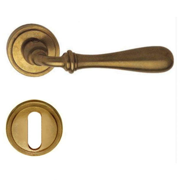 Door handle H1004 Antares, Interior, Natural Brass