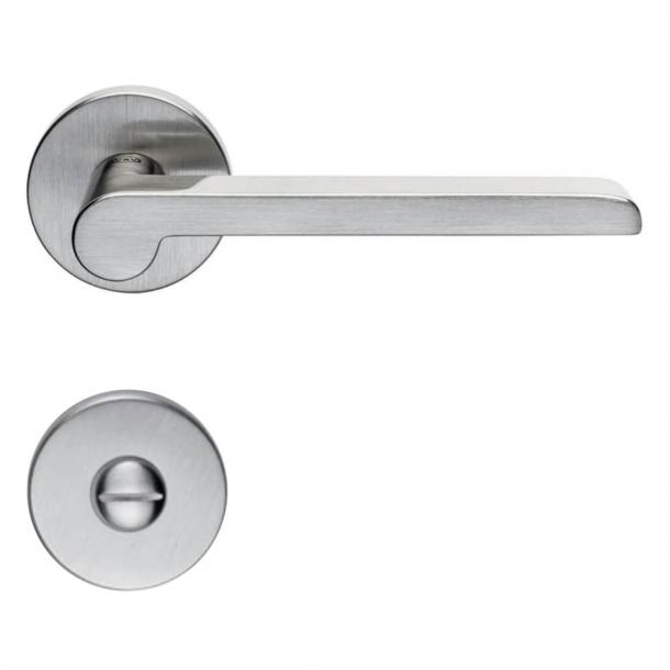 Door handle H1054 W.W., Interior, Satin Nickel, Privacy lock