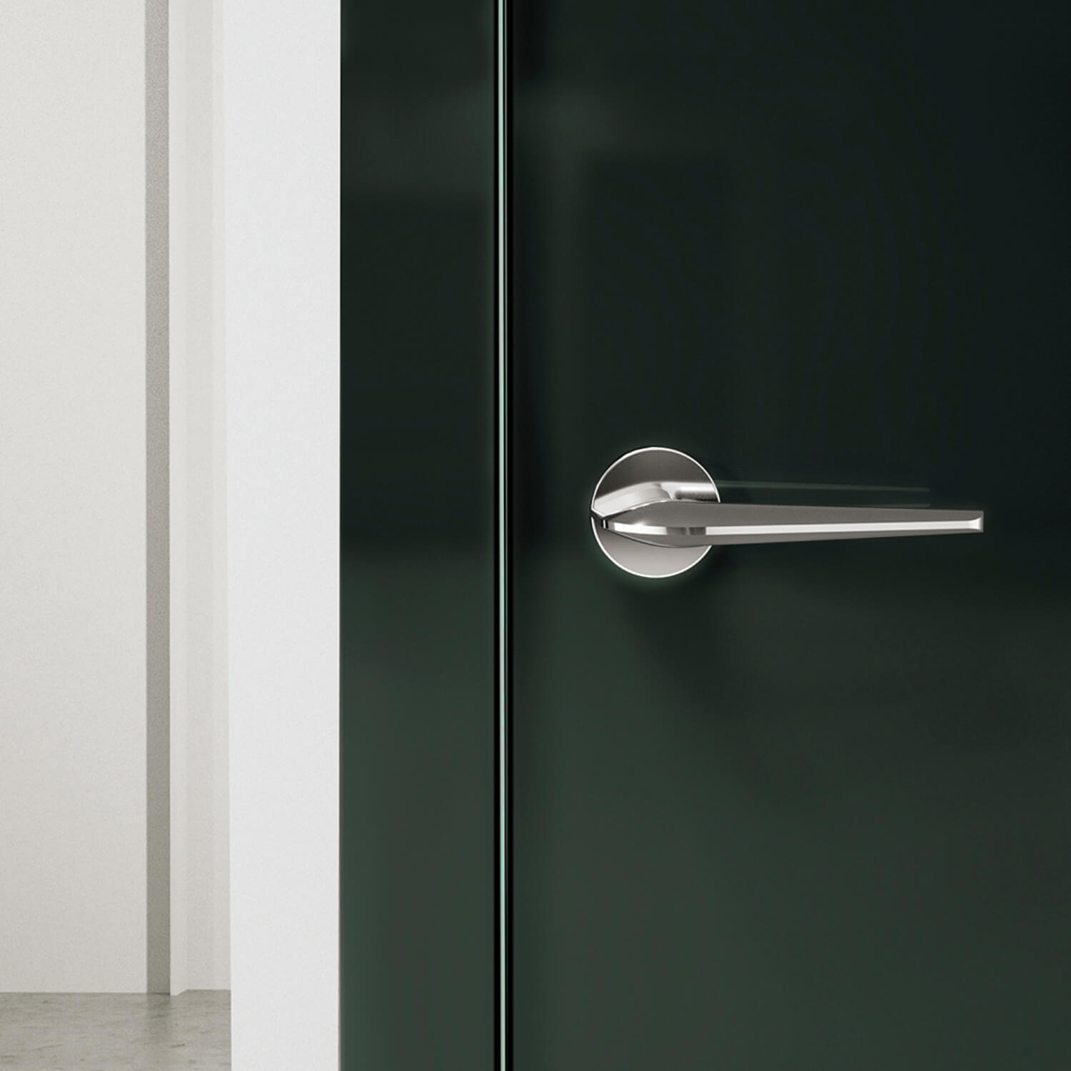 Door Handle H1052 Supersonic Interior Polished Chrome Chrome And