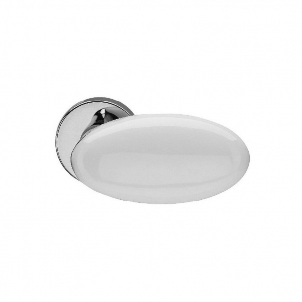 Design door handle H315, Chrome, Porcelain