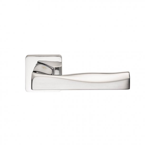 Design door handle H376, Polished Chrome/Satin Chrome
