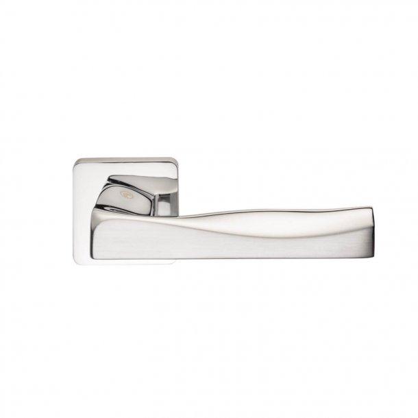 Design door handle H376, Polished Chrome/Satin Chrome
