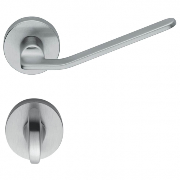 Design door handle - Brushed chrome - Privacy lock - Fusital model H310