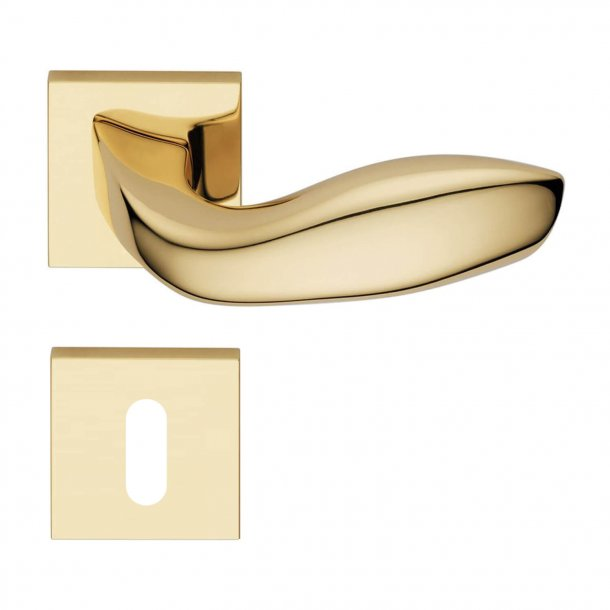 Design door handle H354, Brass