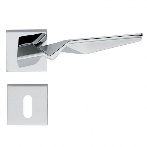 Design dørgreb H356, Blank krom