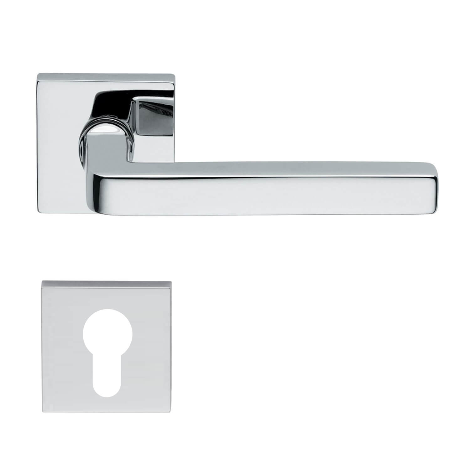 Design Door Handle H361 Chrome Chrome And Nickel Door