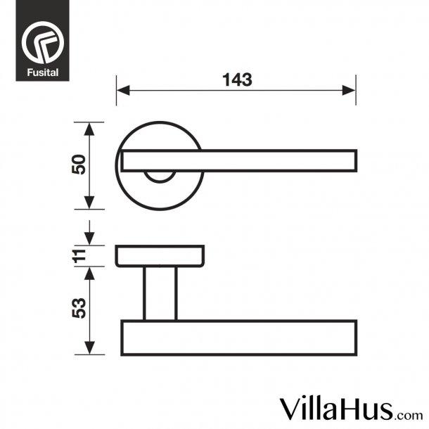 Design door handle H343, Satin chrome