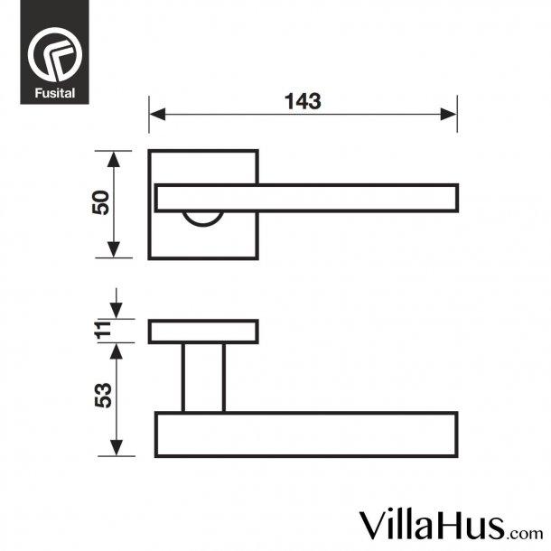 Design dørgreb H358, Blank krom